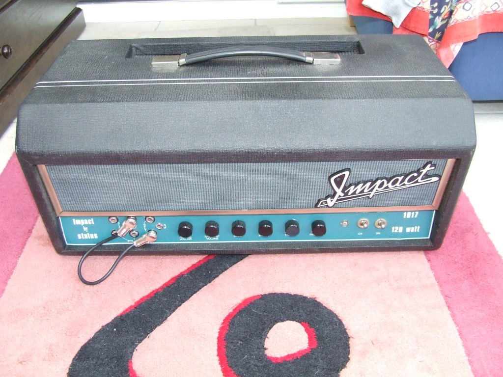 Impact Amplifier (Identical to Sound City 120 Amp Chassis) before restoration