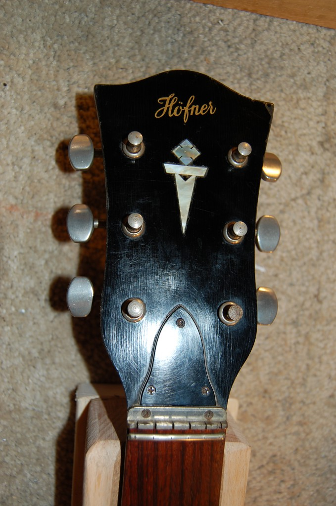 Nice headstock after cleaning
