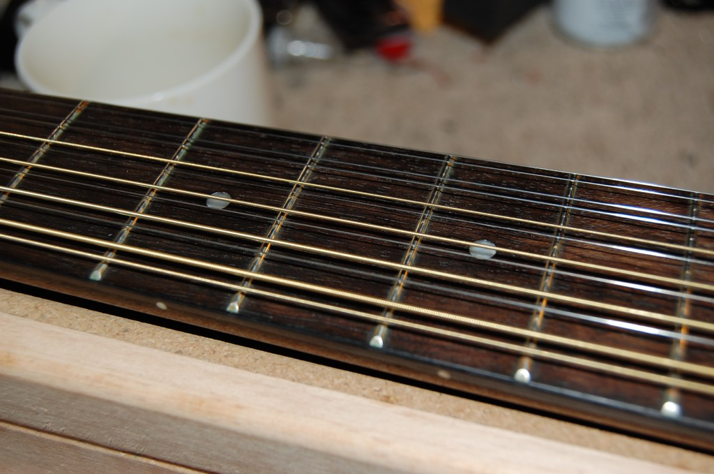 Frets and board cleaned oiled and ready for action