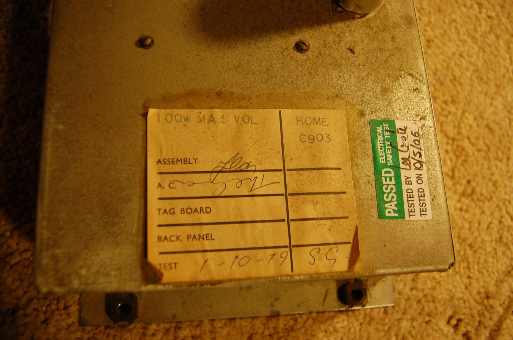 1st October 1979 this amp rolled of the production line