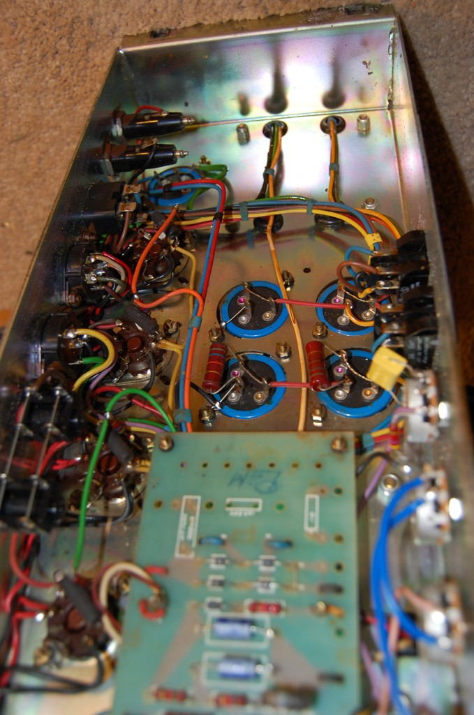 Clean inside only components that look like they have been changed are the bias bypass capacitors