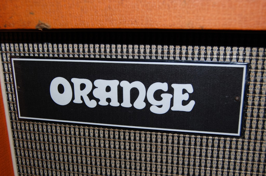 Unusual Orange Label with White on Black?