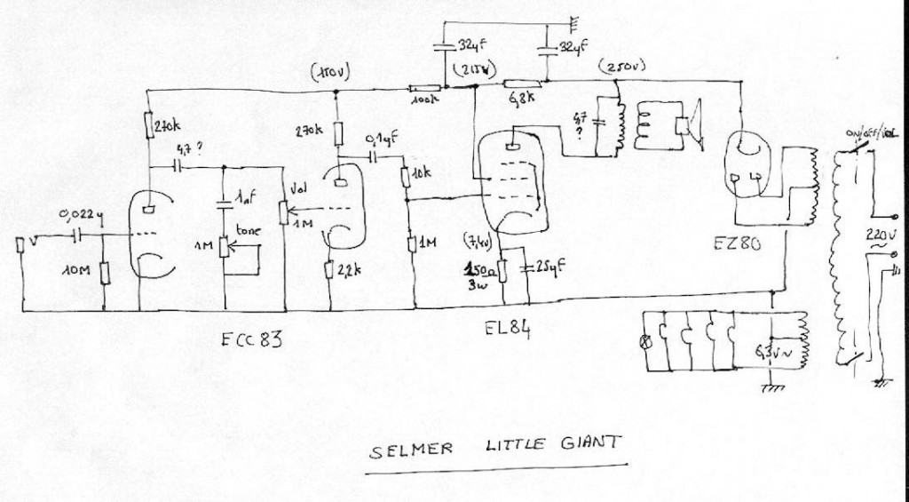 selmer little giant service smp artizan guitar and amplifier potential short schematic