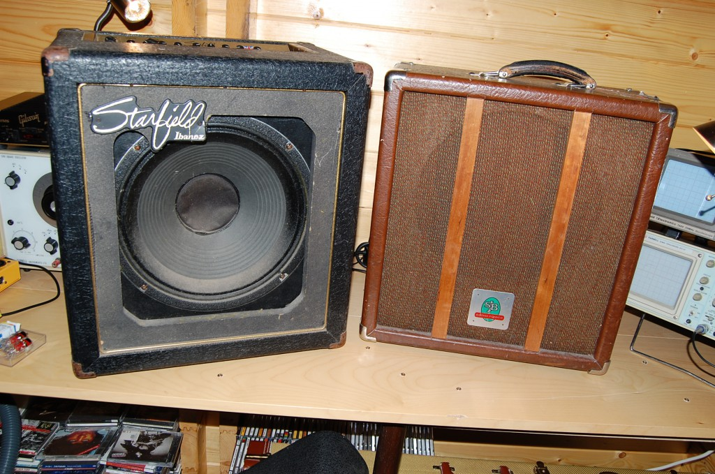 The SJB Atom is the one on the left these two British Amps came in on the same day