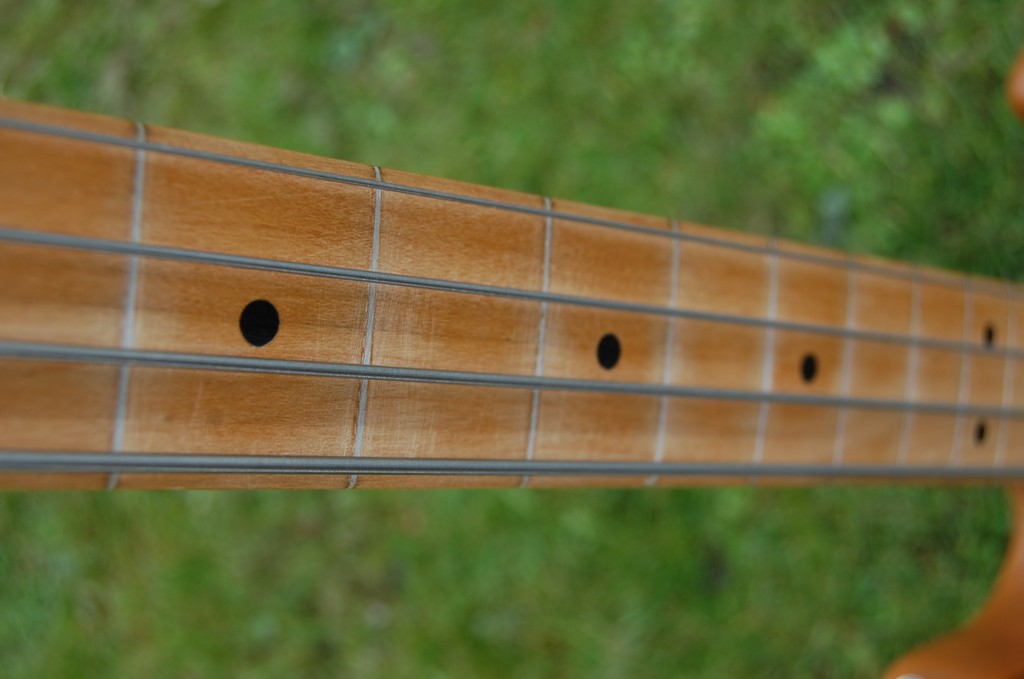 Interesting defret and filler job... will put frets back in