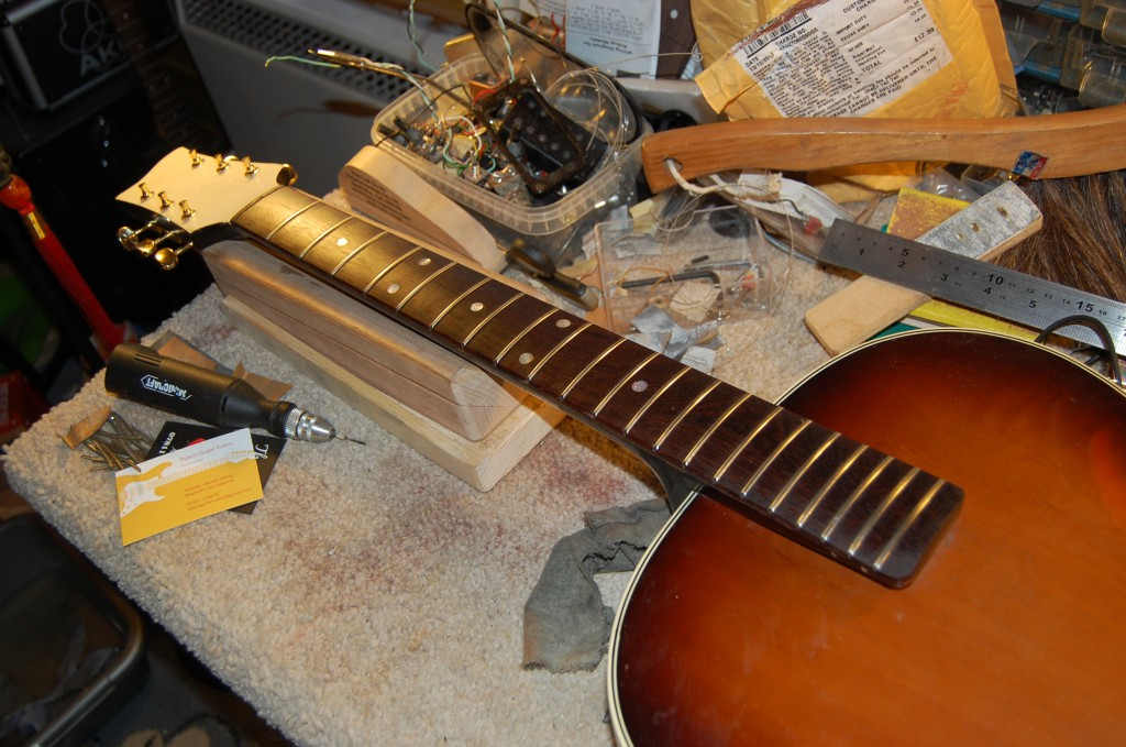 Frets dressed and fretboard oiled up!