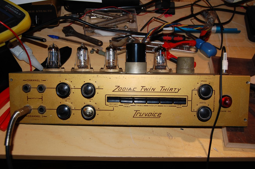 Preamp all cleaned and ready to test!
