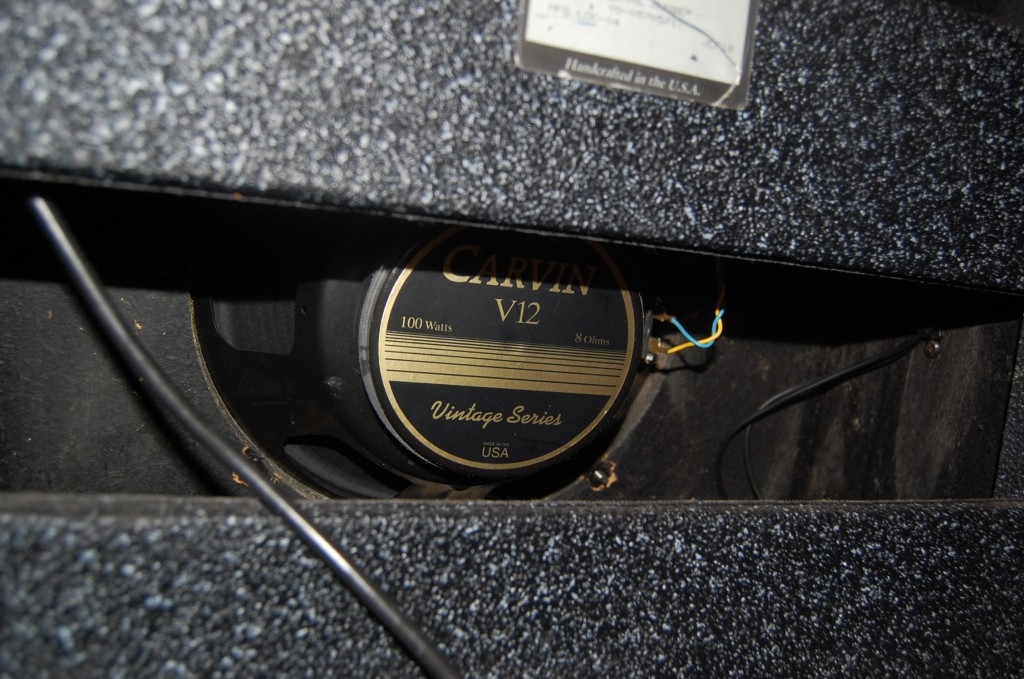Carvin V12 Speaker installed 100 Watts 8 Ohm suited the amp well