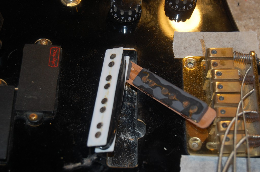 Magnet broken and disconnected from bass of pickup simple glue job