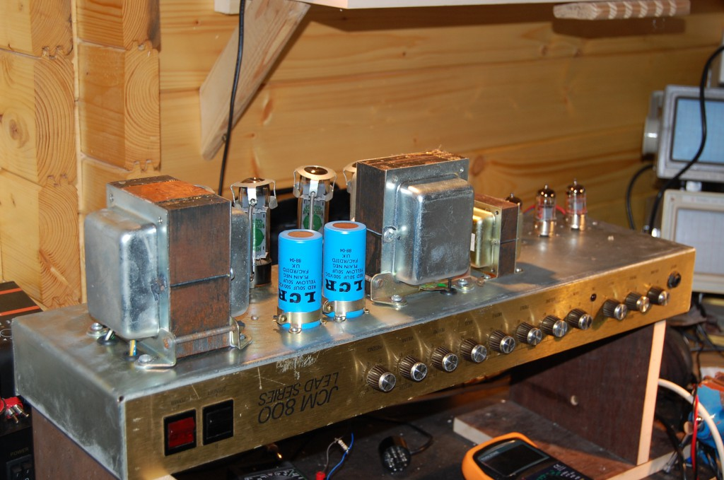 Repaired and setup bias with new output tubes.