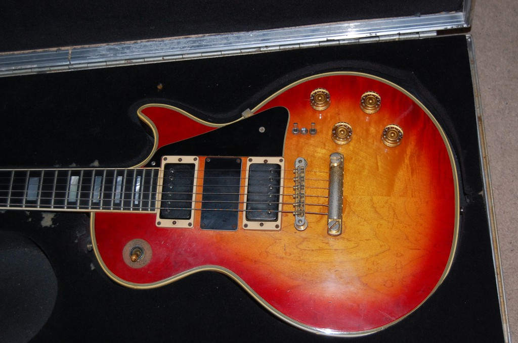 70s Les Paul Custom that at one time had a third pickup added and various switching options