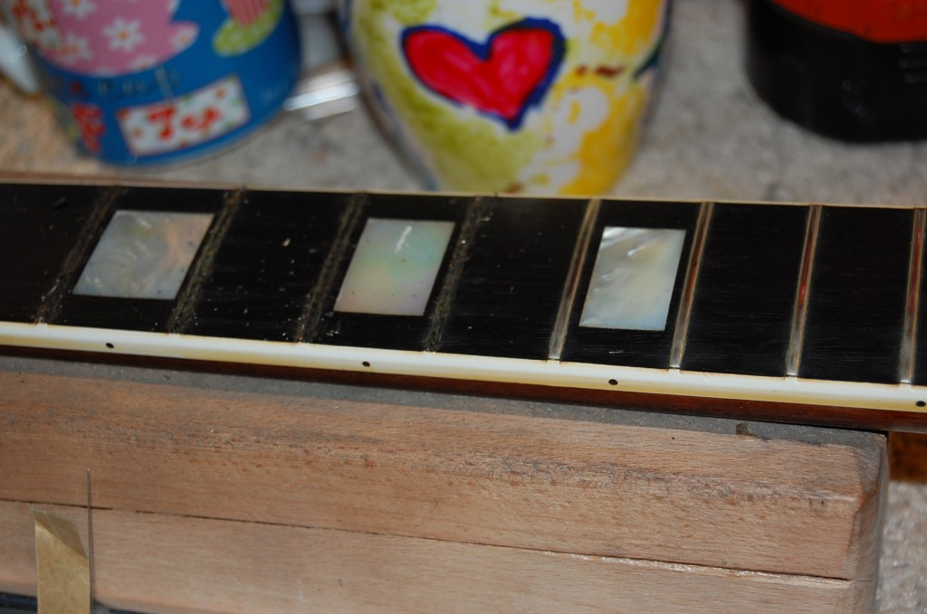 Taking out the frets..