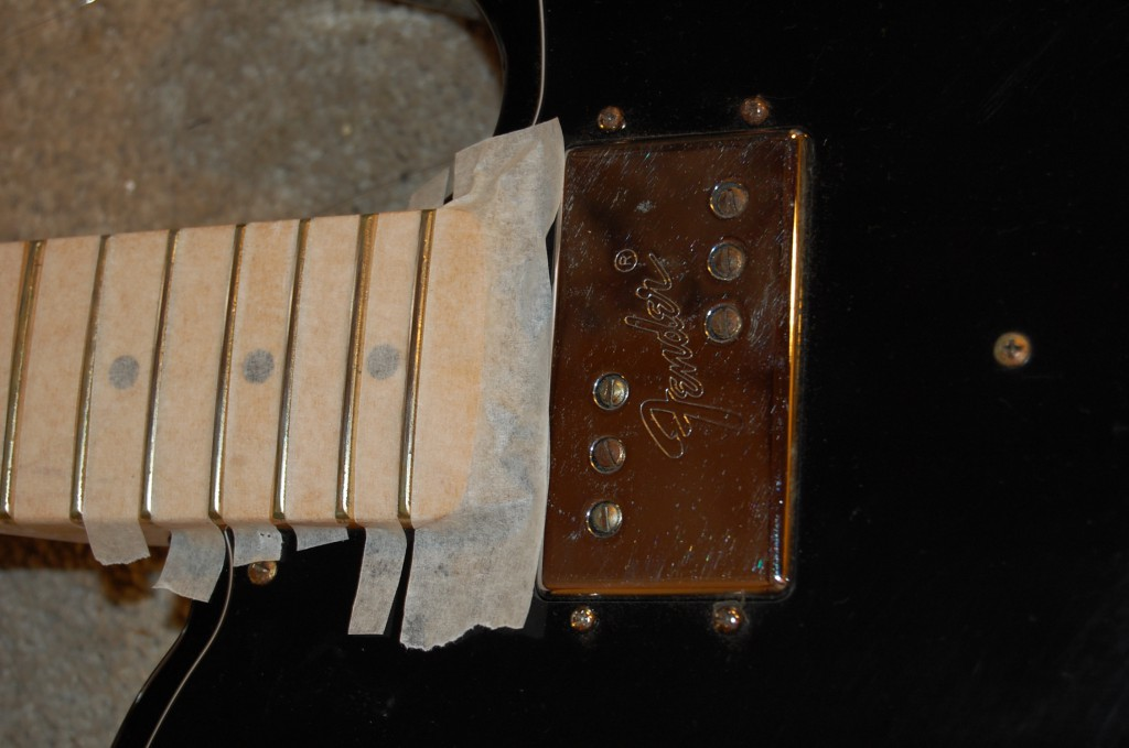 Frets needed seriosu cleaning they still had a lot of varnish on them and dirt