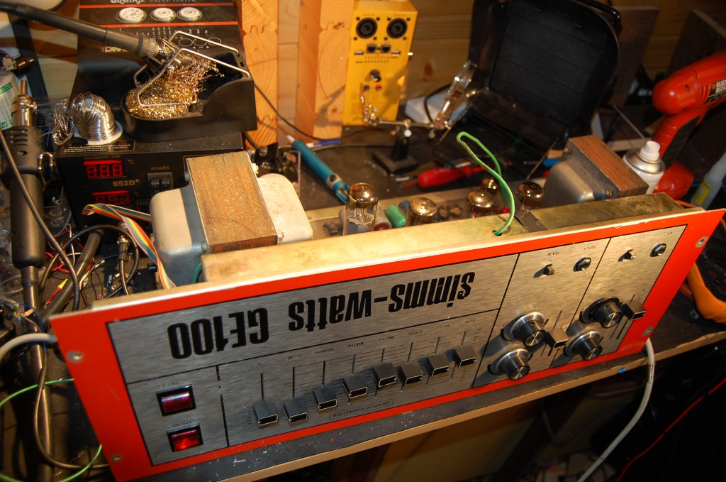 Up and running on the bench and sounding good.. a little too much hum (old caps) and the bias range needs adjusting as the EL34s are running a little too hot.
