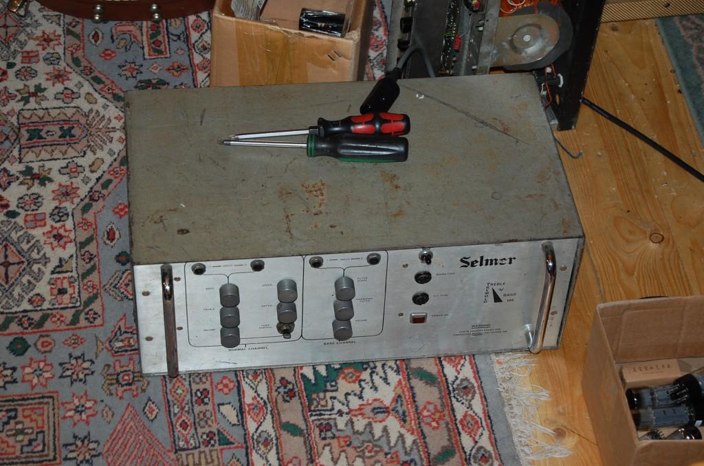 Metal case back on