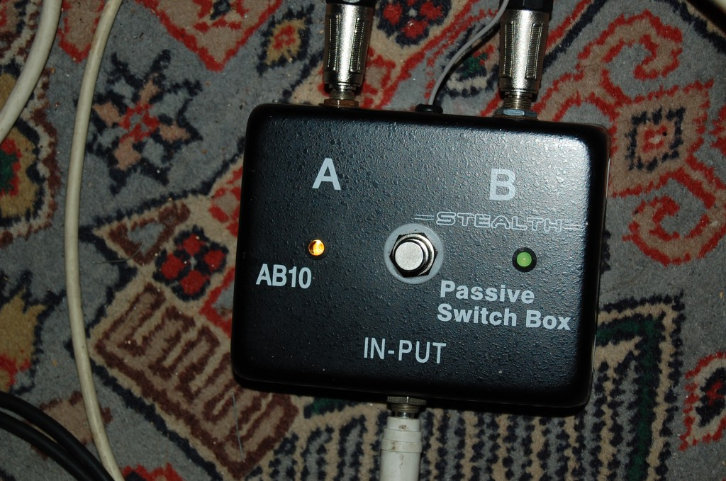 AB box I use for channel switching
